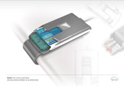 Car smartcard holder