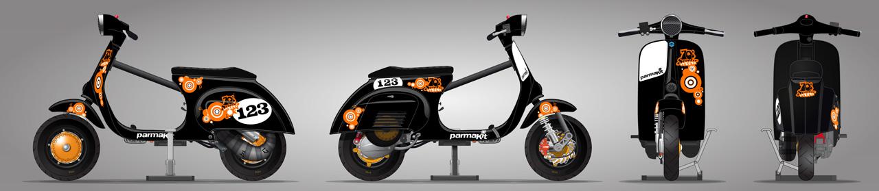 Vespa seventies scooter sticker